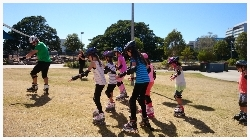 youskate kids beginners lessons basic movement on grass