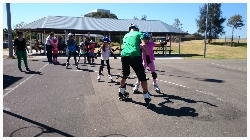 youskate kids beginners lessons basic movement on tarmac