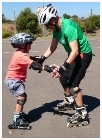 youskate kids beginners lessons instructor helping
